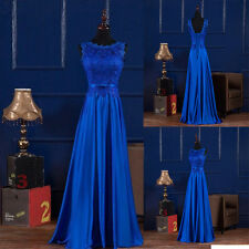 Elegant Formal Satin Bridesmaid Prom Dress Long Evening Wedding Ball Party Gowns