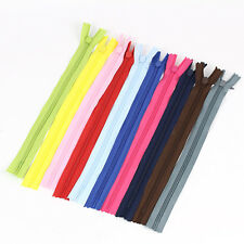 10pcs Nylon Coil Zippers Tailor Sewer Craft 28cm Crafter's Sweing Ended Zips Hot