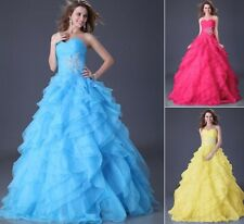 Formal Evening Wedding Dress Cocktail Ball Gown Party Prom Bridesmaid Dress 6-20