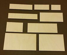 RECTANGLE PLAQUE - Wood OR White Sticker Card Blank Craft Shapes - Various Sizes