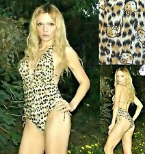 NWT Sanrio Hello Kitty Leopard print&Kitty faces ONE-piece Swimsuit S,M,L