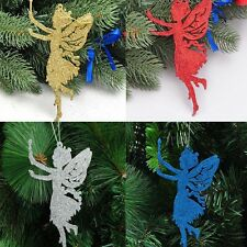 Christmas Tree Cute Hanging Glitter Angel Ornaments Xmas Holiday Wedding Decor