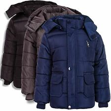 24brands Children's Boy's Winter Jacket padded With Hood New