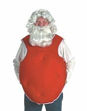 SUIT STUFFER PROFESSIONAL SANTA CLAUS PADDED VEST PADDED STOMACH OS RED or WHITE