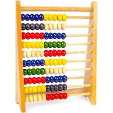 Large Wooden 100 Bead Abacus New Educational Childrens Toy Colourful Beads