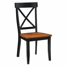 Home Styles Black & Cottage Oak Dining Chair - Set of 2