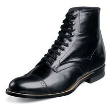 Stacy Adams Mens Madison Black Leather Dress Trending Ankle Medium Wide Boot