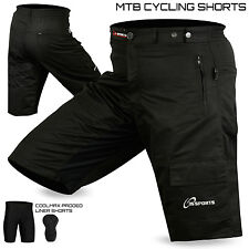 MTB Cycling Cycle Short Off Road With Padded Liner Short  Size - S, M, L, XL,XXL