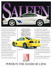1995 SALEEN Mustang S351 Specs Brochure Facts Ford Literature Collectible 95