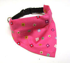 Dog Neck scarf/Collar 2 in 1 Pink flowers Dog scarf