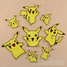 10pcs/set Cartoon Pikachu Embroidered Applique Sew Iron on Patches
