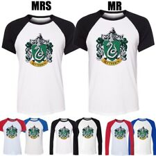 Harry Potter College Slytherin Snake Design Couple T-Shirt Boys Girl Graphic Tee