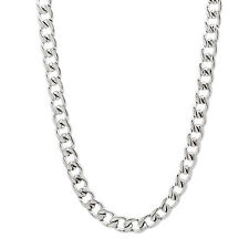 4.5mm Durable Solid Stainless Steel Cuban Curb Link Chain Necklace