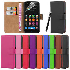 New Wallet Leather Flip Card Case Cover For ZTE Blade V7 Lite + Screen Protector