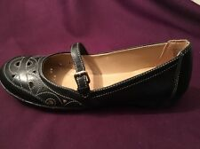 """NATURALIZER """"INDULGE"""" BLACK LEATHER MARY JANES - NEW! FREE SHIPPING! GREAT FLATS"""