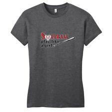 Softball Play Like A Girl Women's Fitted T-Shirt Motivational Sports Shirts