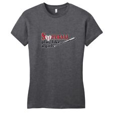 Softball Play Like A Girl Women's Fitted T-Shirt