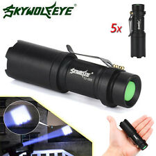 5x 7W 2000LM Zoom CREE Q5 LED Flashlight Torch Lamp Adjustable Focus Light Lot