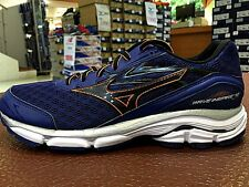 Mizuno Wave Inspire 12 D Width Blue Black Orange Mens Running Shoes J1GC164411