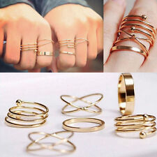 Unique Ring Set Punk Alloy Knuckle Rings for Womens Finger Ring 6 PCS Rings*