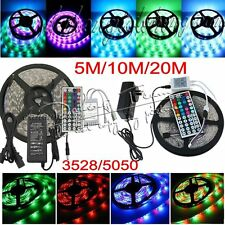5/10/20M 3528 5050 RGB 300LED SMD Flexible Light Strip 24/44 Key (Power Supply)