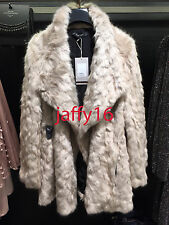 ZARA FAUX FUR-FEEL COAT SAND/BLUE XS-L REF. 1255/263