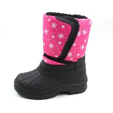 Kid's Snow Boots Girls Pink Snowflakes SKADOO Toddler Little Kid NEW 1319