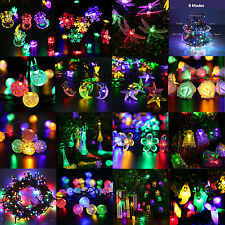 10-300 LED Solar / Battery Power Fairy Light String Xmas Christmas Party Outdoor