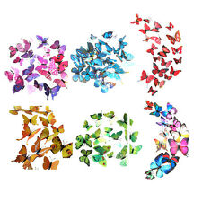 12pcs 3D Novel Wall Sticker Butterfly Home Decor Room Decoration Stickers WS