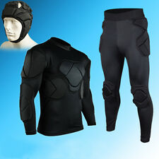 Men Soccer Football Goal Keeper Goalie Padded Long Pants Jersey Shirts Jersey