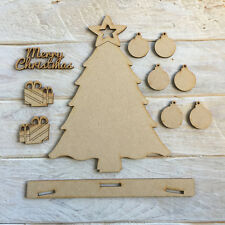 MDF Wooden Christmas Tree for IKEA FRAME with Stand & Baubles Christmas Tree