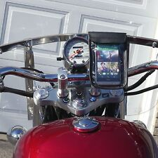 Caddy Buddy Waterproof Phone Mount for Motorcycle Handlebar Chrome (Buy Direct!)