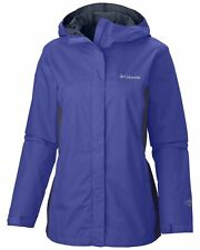 "New Womens Columbia ""Arcadia II"" Omni-Tech Waterproof Rain Jacket"