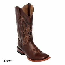 Ferrini Mens Cowhide Square Toe Brown Boots