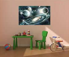 Landscape Space Mural Scene STARS & PLANETS #1 Wall Graphic Art Decal Sticker