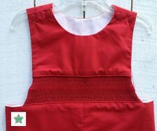 Smocked Red Longall, sibling matching available, FREE SHIPPING!