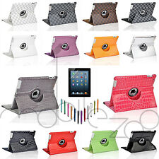 360° Rotating Magnetic PU Leather Smart Case Cover Stand for Apple iPad 2/3/4