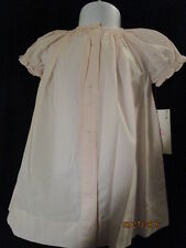SOFT PINK SMOCKED SHORT SLEEVE HEIRLOOM DAYGOWN NEW BABY FLOWERS ROSALINA