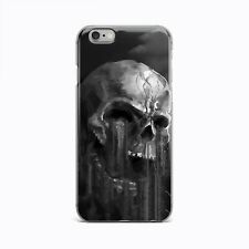 Horror Evil Skull Skeleton Statue TPU Rubber Silicone Clear Cover Case iPhone