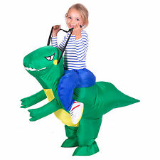 CHILDRENS INFLATABLE DINOSAUR T-REX KIDS FANCY DRESS COSTUME DRAGON PARTY OUTFIT