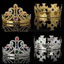 Royal Crown King Queen Jewels Adult Christmas Halloween Medieval Costume Hat Hot