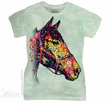 FUNKY HORSE Womens T-Shirt Dean Russo Equine Art The Mountain Tee Top S-2XL NEW