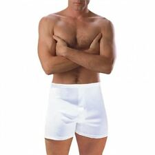 Mens 2 Pack Comfort Classic Essential White Cotton Boxers Slips Trunks Underwear