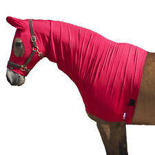 Snuggy Hoods Shiny Show Stretch Lycra Horse Hoods-8 Sizes-3 Colours-Zip/Pull On