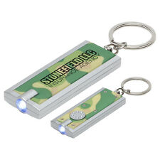150 Camouflage Rectangular LED Light Key Chains with Your Custom Message/Logo
