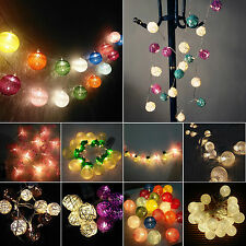 10/20LED Battery Operated String Fairy Lights Christmas Party Wedding Home Decor