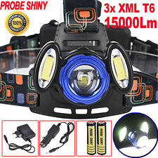15000Lm 3x XML T6 LED Headlamp Rechargeable 18650 Headlight Head Torch Light LOT