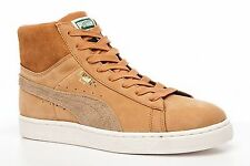 NEW 2016/17 PUMA SUEDE HI TOPS CLASSIC TAN LEATHER TRAINERS BOOTS