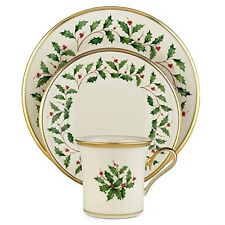 Holiday Dinnerware Set 12 Piece Serves 4 Lenox Bone China Christmas Plates Mugs