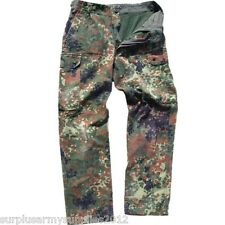 GERMAN ARMY COMBAT TROUSERS FLECKTARN CAMO ISSUED SURPLUS FISHING HIKING AIRSOFT